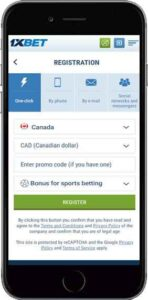 1xbet registration by mobile
